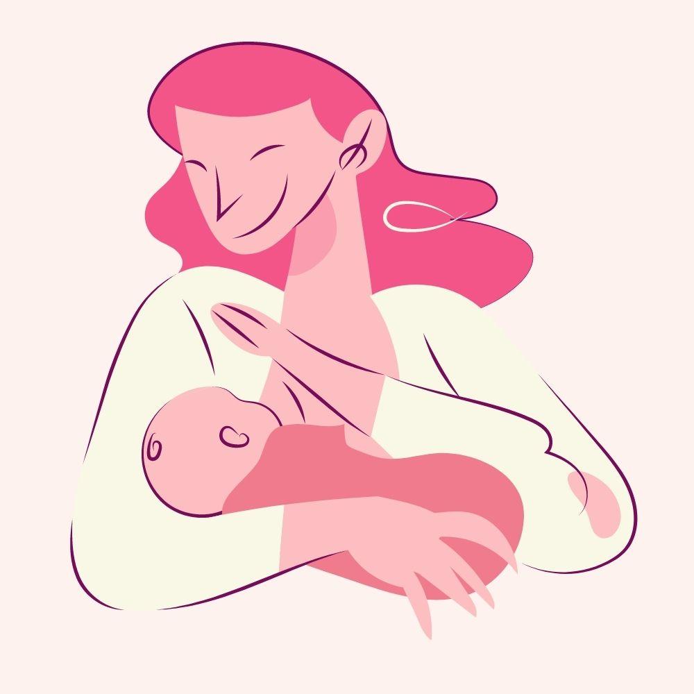 Posizioni per allattare al seno: tradizionale